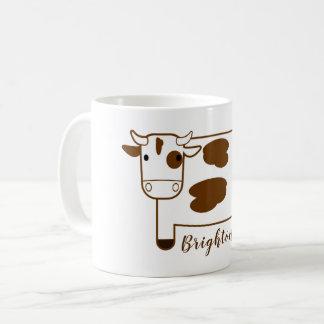 Caneca De Café Vaca de leiteria bonito dos desenhos animados