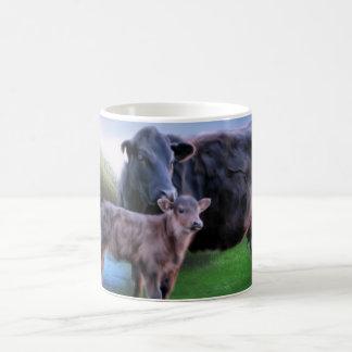 Caneca De Café Vaca e vitela pretas de Angus