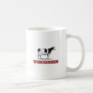Caneca De Café vaca vermelha de Wisconsin