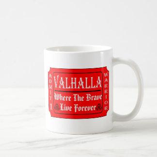 Caneca De Café Valhalla admite 1 guerreiro onde o bravo pode