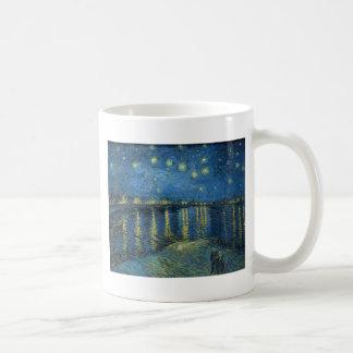 Caneca De Café Van Gogh: Noite estrelado sobre o Rhone