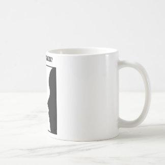 Caneca De Café Vaso ou caras? (Ilusão óptica)