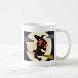 Caneca De Café vassoura do broomstick da feitiçaria da bruxa