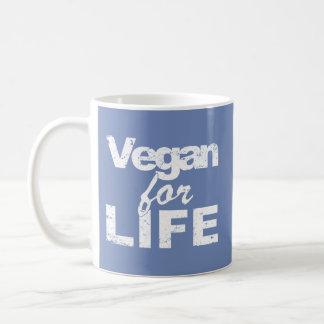 Caneca De Café Vegan para a VIDA (branca)