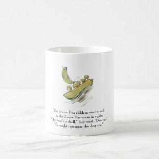 Caneca De Café Vegetais bonitos dos miúdos da ervilha verde do