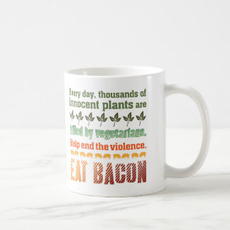 Caneca De Café Vegetariano do bacon
