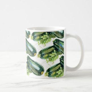 Caneca De Café Vegetariano do vegetal do abobrinha dos vegetais