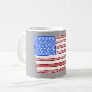 Caneca de café velha da aguarela da bandeira