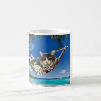 Caneca De Café Veludo de algodão no das caraíbas (gato no