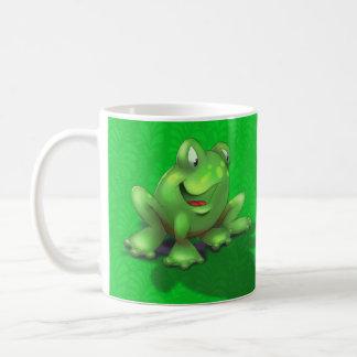 Caneca De Café verde bonito conhecido personalizado do sapo dos