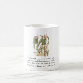 Caneca De Café Verde bonito do vegetal dos miúdos do feijão de