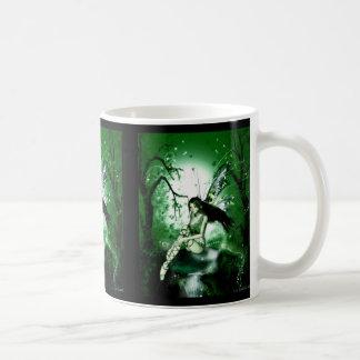 Caneca De Café Verde mágico feericamente
