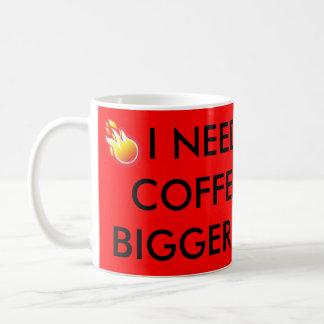 Caneca de café vermelha com provérbio divertido,