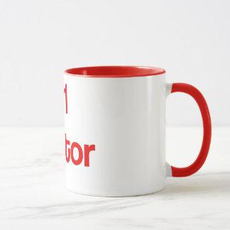 Caneca de café vermelha do traidor #1