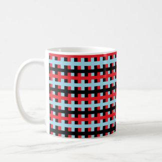 Caneca De Café Vermelho abstrato, azul e preto Pastel