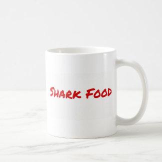 Caneca De Café Vermelho da comida do tubarão