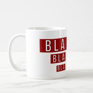 Caneca De Café Vermelho de Bla Bla Bla