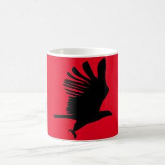 Caneca De Café Vermelho de Eagle do vôo