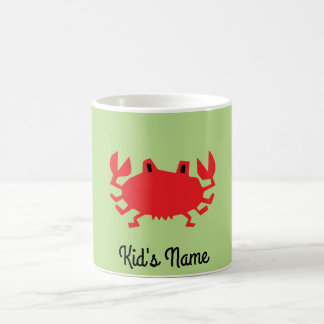 Caneca De Café Vermelho do caranguejo do mar