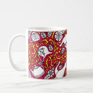 Caneca De Café Vermelho do tempo do chá