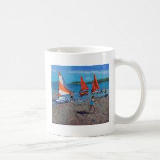 Caneca De Café Vermelho e branco navega Abersoch