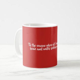 Caneca de café vermelho e preto, filmes