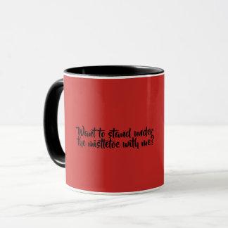 Caneca de café vermelho e preto, visco
