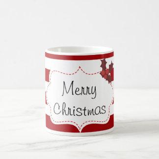Caneca De Café Vermelho e White Christmas mágicos