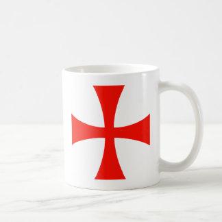 Caneca De Café Vermelho transversal de Templar dos cavaleiros
