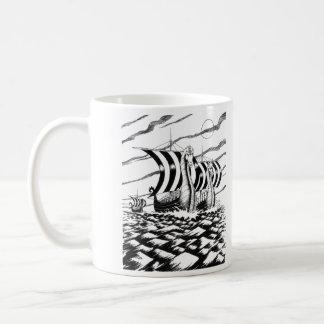 Caneca De Café Viagem escura do mar