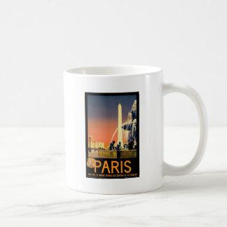 Caneca De Café Viagens vintage Paris France