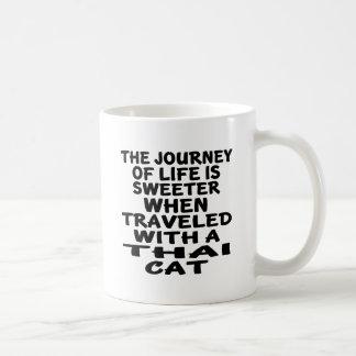 Caneca De Café Viajado com gato tailandês