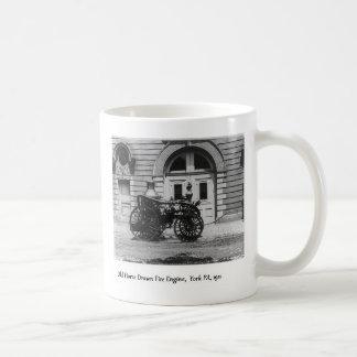 Caneca De Café Viatura de incêndio e Firehouse antigos