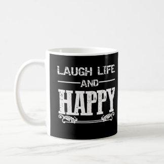 Caneca De Café vida do lough e copo feliz