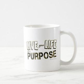 Caneca De Café Vida sua vida com uma finalidade