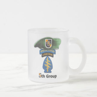 Caneca De Café Vidro Jateado 5o Veteranos do grupo SFG SF SFGA das forças
