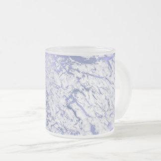 Caneca De Café Vidro Jateado Abstrato roxo cinzento branco VIp do mármore