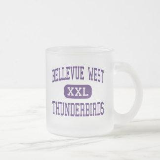 Caneca De Café Vidro Jateado Alto ocidental de Bellevue - Thunderbirds - -