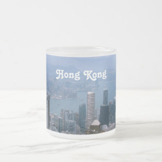 Caneca De Café Vidro Jateado Arquitectura da cidade de Hong Kong