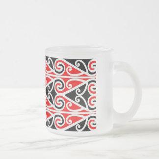 Caneca De Café Vidro Jateado arte tribal do design maori para você