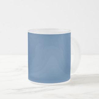 Caneca De Café Vidro Jateado Azul da cor da Web do código do Hex #336699