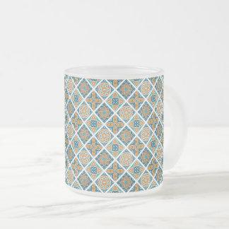Caneca De Café Vidro Jateado Azulejos de Alexandria