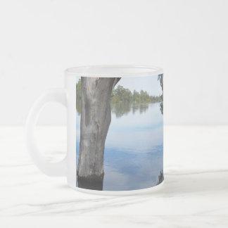 Caneca De Café Vidro Jateado Beleza de um rio Murray Austrália da árvore de