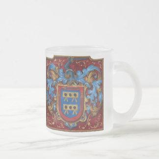 Caneca De Café Vidro Jateado Brasão medieval