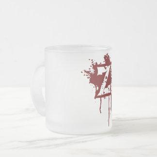 Caneca De Café Vidro Jateado Chávena de vidro geado 10oz Z
