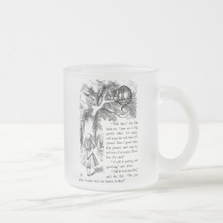 "Caneca De Café Vidro Jateado Cheshire cat , "" Alice in Wonderland """