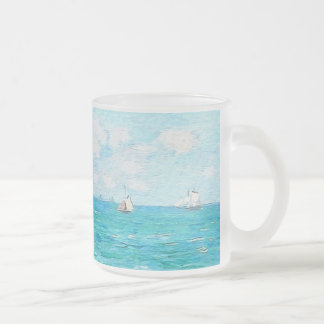 Caneca De Café Vidro Jateado Claude Monet a cabine em belas artes do