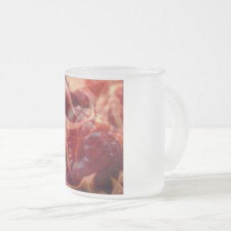Caneca De Café Vidro Jateado Copo impetuoso do vidro de Frost da framboesa