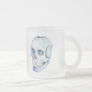 Caneca De Café Vidro Jateado Crânio de cristal rachado
