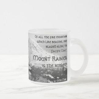 Caneca De Café Vidro Jateado De todas as montanhas do fogo… O Monte Rainier